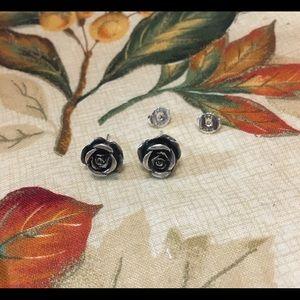 James Avery Retired Rose Earrings